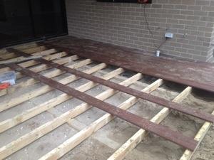 in progress of installing the Rosewood new gen decks