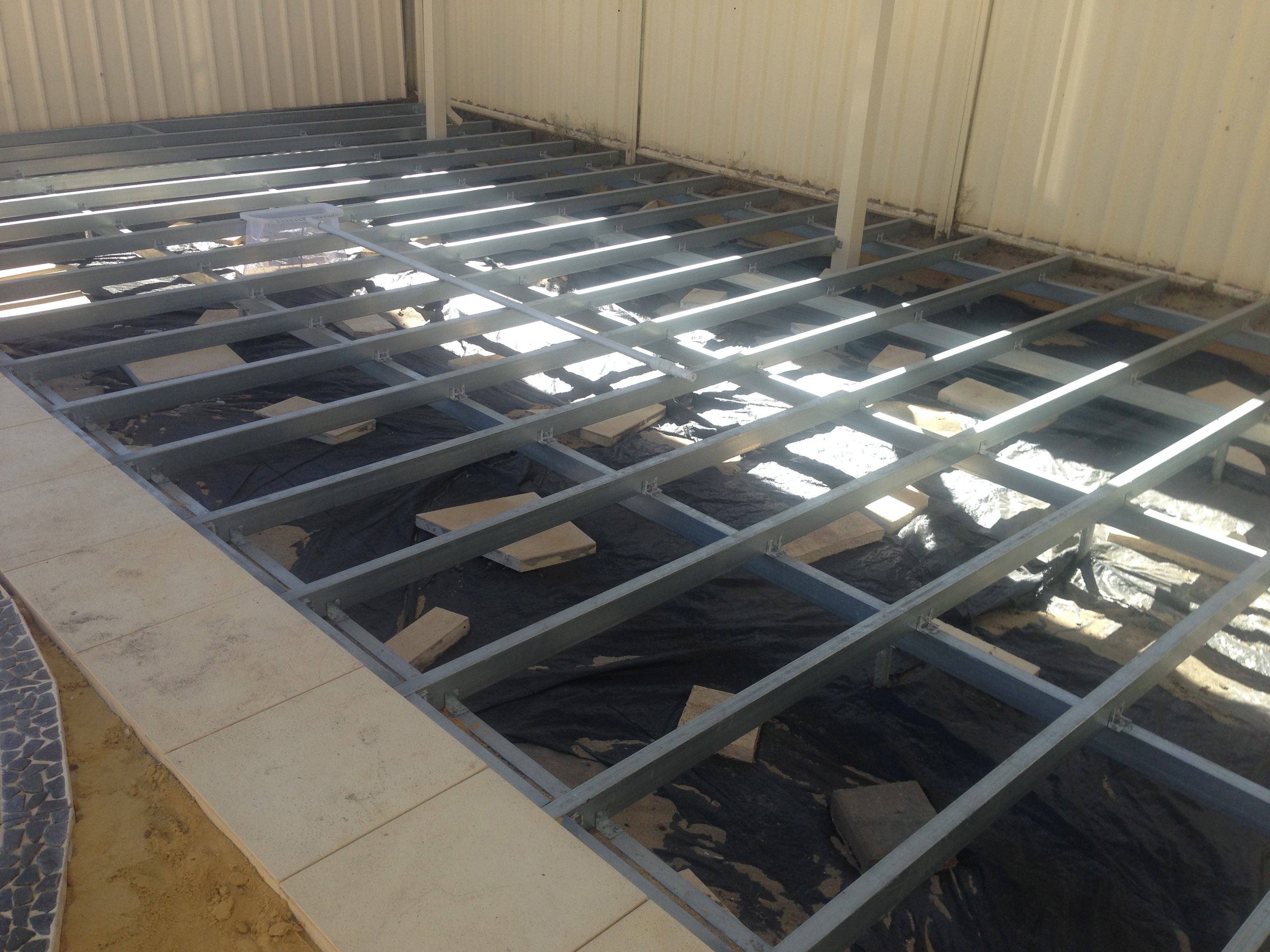 Steel Frame Work : Can you install composite decking on a steel frame