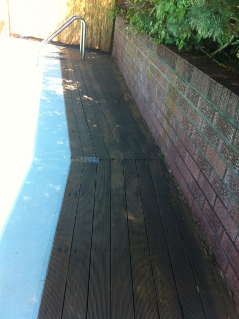 old deck to be ripped up