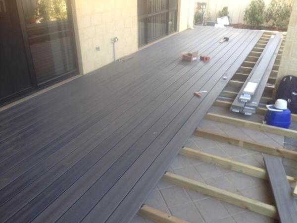 Yokine decking grey nex gen boards composite decking perth for Grey composite decking