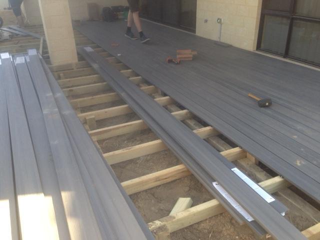 Yokine decking grey nex gen boards composite decking perth for Composite decking brands
