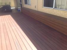 Completed with Nex Gen Rosewood colour decking