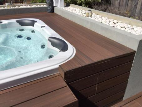 NexGen Composite Decking around spa