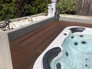 NexGen Composite Decking around spa