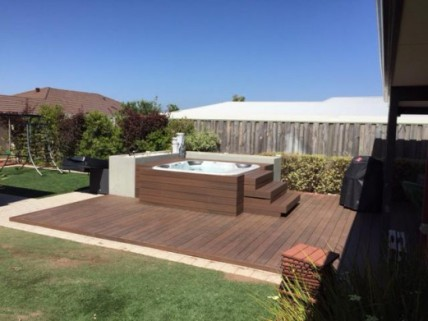 NexGen Composite Decking around spa Perth