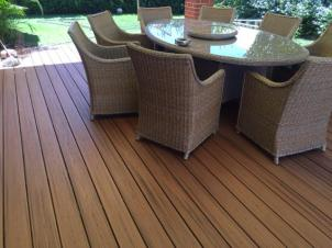 Composite decking Trex