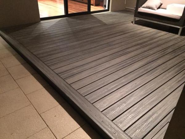Trex Decking in the Island Mist colour