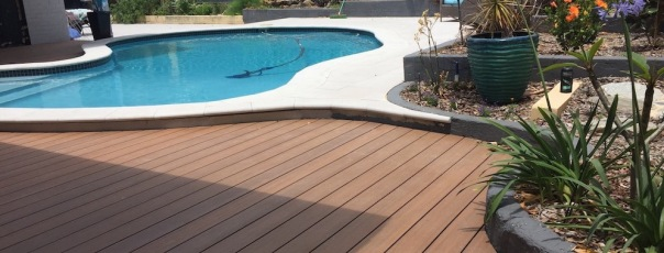 Newtechwood near pool